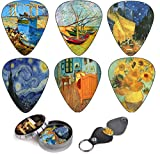 Guitar Picks That Will Upgrade Your Musical Performance And Appearance As An Artist! Get this amazing set, update your guitar picks collection and be sure that you will never lose them again!It is not just about the 12 picks of memorable pai...