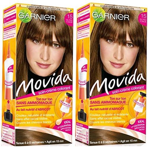 garnier movida coloration temporaire sans amoniaque blond 15 blond fonc lot de - Coloration Ton Sur Ton Blond