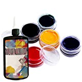 Handmade DIY Glue 50g + 6pcs Color Paste, Handmade DIY Soft Transparent Tasteless Glue Multicolor Fine Glue Set (Color: Glue 50g + 6 color concentrates, Tamaño: as shown)