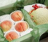 果物 ギフト メロン と 桃 詰め合わせ 山梨県産 もも 北海道産 赤肉メロン ランキングお取り寄せ