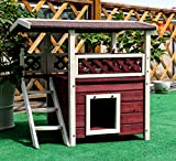 "Petsfit 30""x22""x29""Outdoor cat house,Ideal cat condo,Weatherproof Cat Shelter"