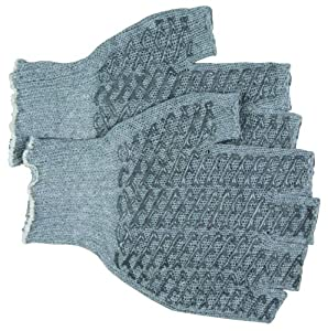 MCR Safety 9677XLM Honey Grip Cotton/Polyester Multi-Purpose String Knit Fingerless Gloves, White, X-Large