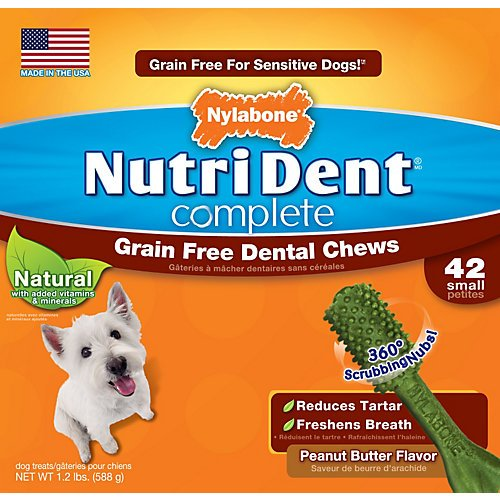 Nutri Dent Complete Grain Free Small Dog Chew 42Ct