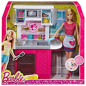 Share facebook twitter pinterest buy new 34 97 barbie for Kitchen set toys amazon