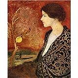 Art Panel - Portrait Of Elisabeth Gerhardt By August Macke