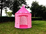 Kiddey Princess Castle Kids Play Tent, Girls Children Playhouse for Indoor or Outdoor, Pink, By Kiddey™