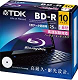 TDK データ用ブルーレイディスク BD-R 25GB 1-6倍速 ホワイトワイドプリンタブル 10枚パック 5mmスリムケース BRD25PWC10A