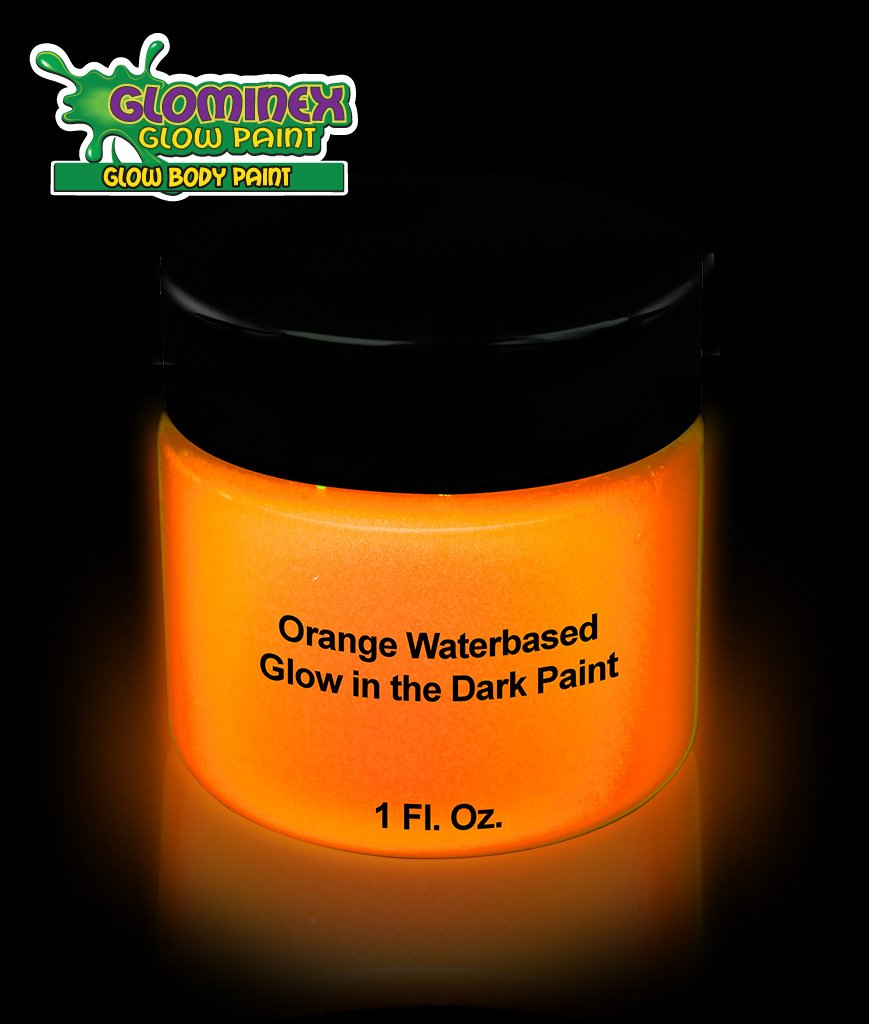 galleon glominex glow in the dark face and body paint 1 oz jar orange. Black Bedroom Furniture Sets. Home Design Ideas