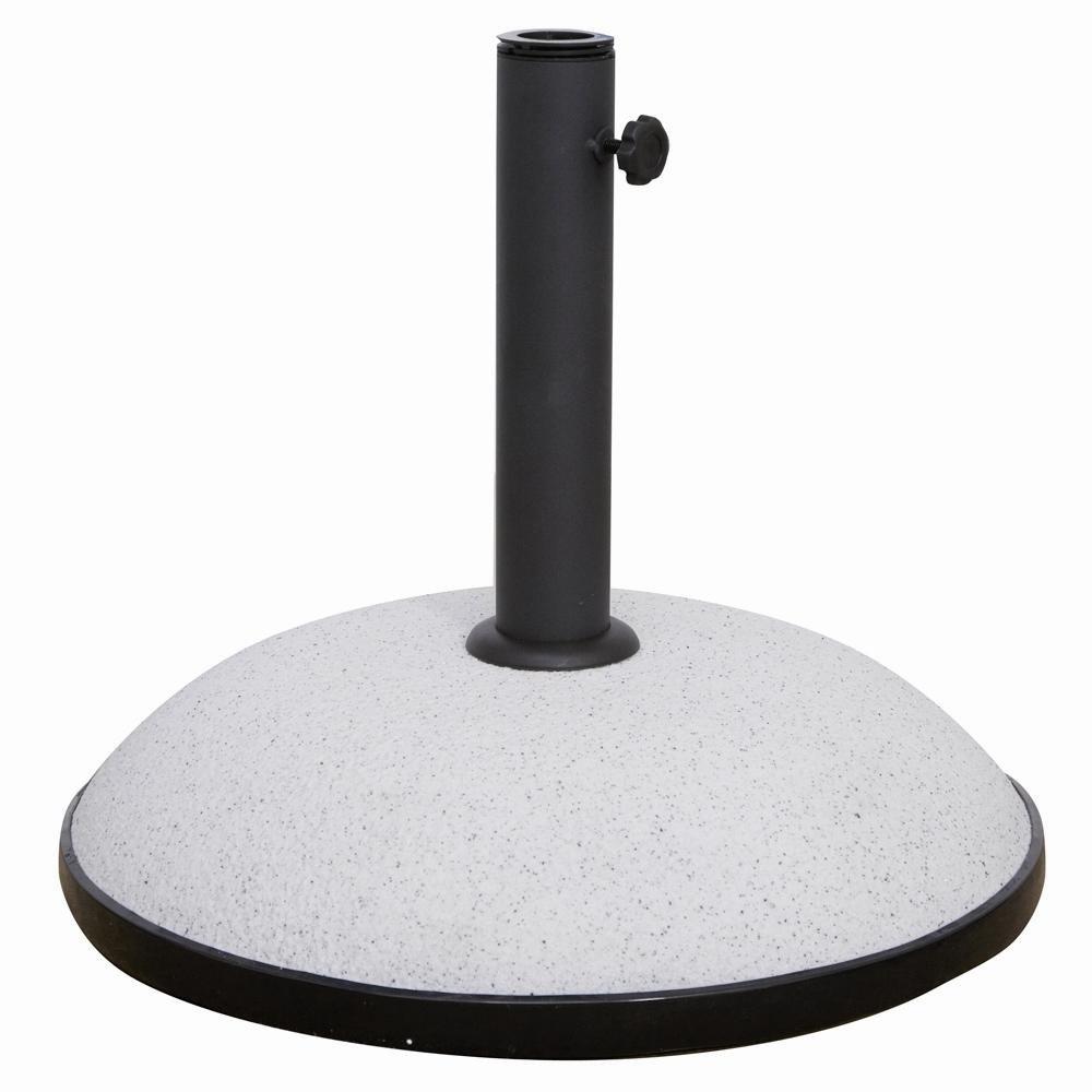 Siena Garden 120357 Betonschirmständer, 35kg Für Schirmstöcke Ø27-48mm Stein-Optik hell