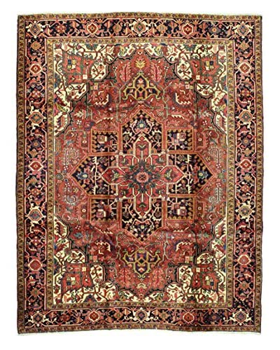 Bashian Hand Knotted Herez Rug, Rust, 8' 8 x 11' 3
