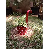 The Garden Store Red Polka Railing Planter