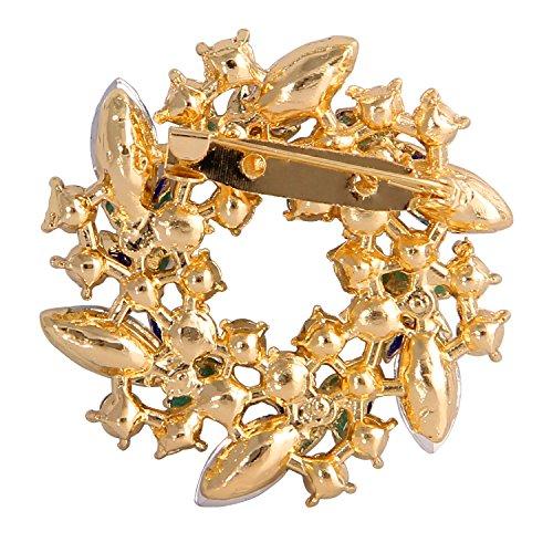 Valdler Women 's Brooch Pin With Fashion Jewelry Fancy Vintage Rhinestone Bling Crystal Bauhinia Flower 2