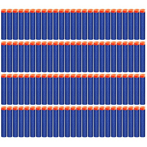 pushingbest-200pcs-72cm-foam-darts-eva-soft-bullets-for-nerf-n-strike-blue-color-suction-head