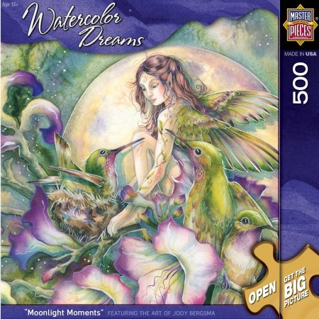 Master Pieces Water Color Dreams Moonlight Moments Jigsaw Puzzle - 1