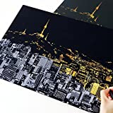 Mziart Famous City Scratch Night View - Seoul, Scratch Art Paper for Gift