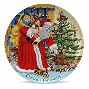 #!Cheap Spode Christmas Tree Cookies for Santa Plate