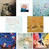 Greeting cards collection. Beautiful 1 - 8 luxury art cards. Premium quality birthday cards.by Woodmansterne cards,...