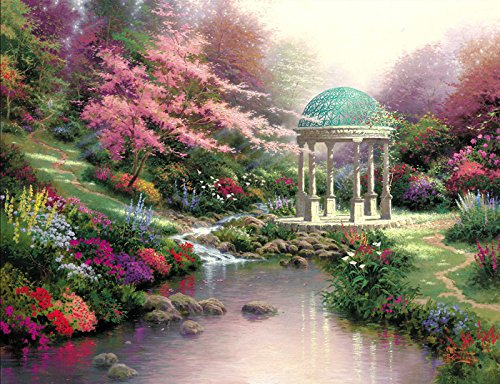 Van Eyck Jungle Round Booth Printed Thomas Kinkade Landscape Oil Painting Prints on Canvas Wall Art Picture for Living Room Home Decorations HD-142