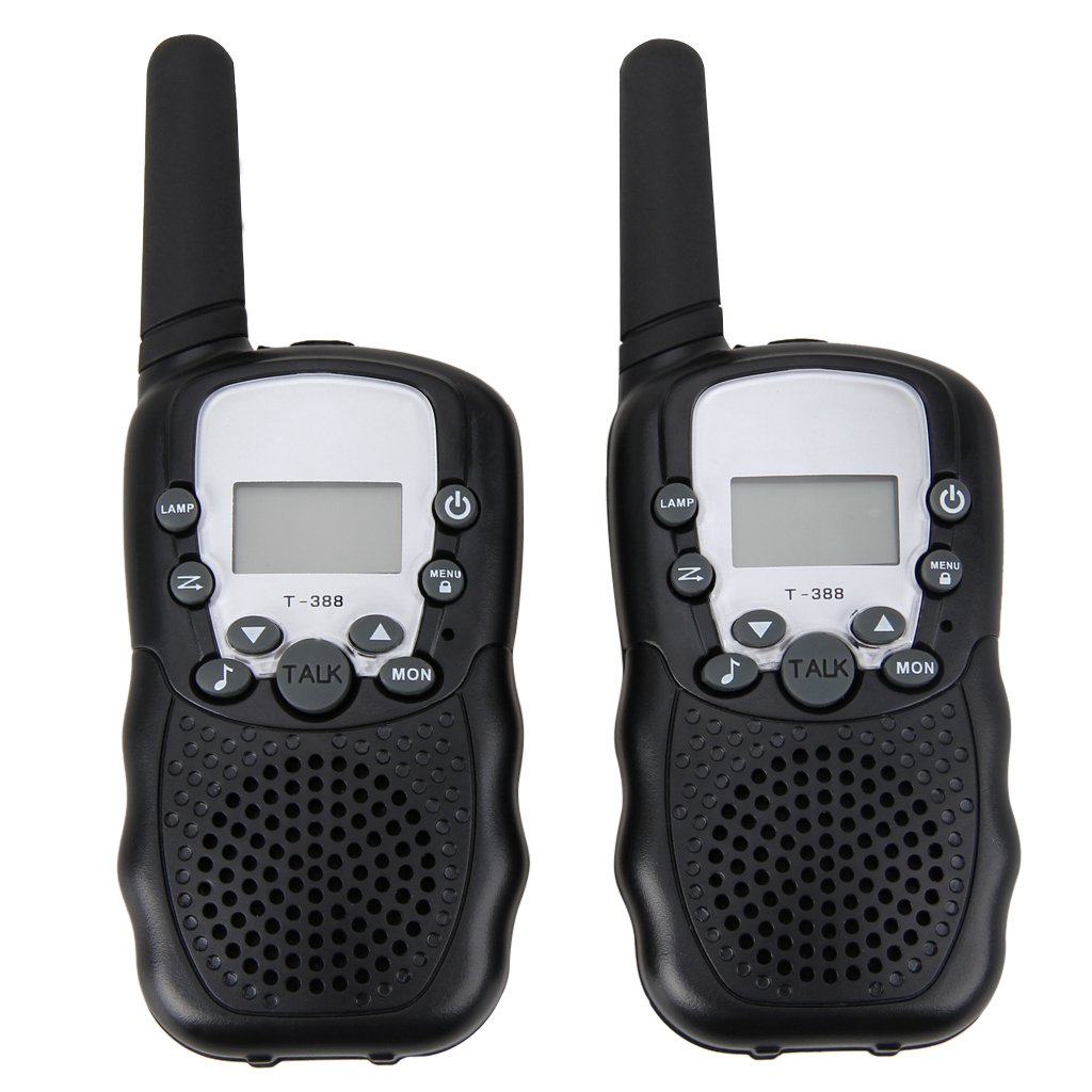 FLOUREON 22 Channel FRS/GMRS Twin Walkie Talkies UHF462-467MHz 2-Way Radio 3KM Range Interphone for Outdoor Activity