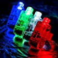 Dennov 100 LED Finger Lights Beams Light Up Toys Party Favors Supplies, Assorted Color