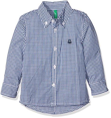 united-colors-of-benetton-jungen-hemd-5du65q200-mehrfarbig-checked-dark-blue-8-9-jahre-herstellergro