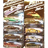 2014 Hot Wheels #2 Fast & Furious Complete Set of 8 - '70 Dodge Charger, Toyota Supra, Nissan Skyline GT-R, '67 Mustang, '72 Ford Gran Torino, '08 Dodge Challenger, '11 Dodge Charger, '69 Daytona (Tamaño: 1:64 Scale ~ 3)