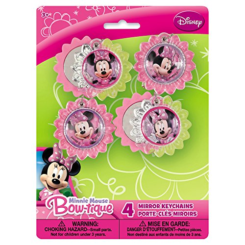 Minnie Mouse Mirror Key Chains, 4ct