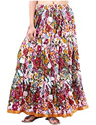 Sunshine Enterprises Women's Cotton Wrap Skirt (White)