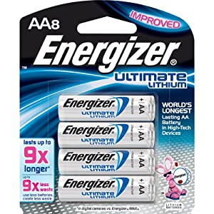 AA e2 Lithium Battery Retail Pack - 8-Pack-T49338