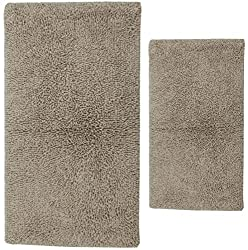 Castle Hill 2-Piece Melbourne Bath Rug, 17 by 24-Inch 24 by 40-Inch, Natural