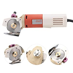 Fabric Round Cutting Machine,Fabric Round Cutter 220V Electric Cloth Cutter,Handheld Portable 65mm Rotary Blade Multi Layer Cloth Leather Wool Cutting Tool(EU Plug)220V Electric Cloth Cutter,Handheld Portable 65mm Rotary Blade Multi Layer Cloth Leather Wool Cutting Tool(EU Plug) (Tamaño: EU Plug)