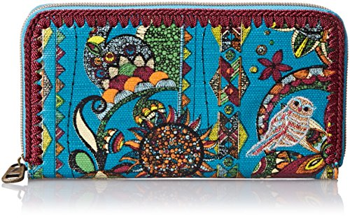 Sakroots Artist Circle Large Wallet, Teal Spirit Desert, One Size