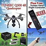 YUNEEC Q500 4K Typhoon Quadcopter W/CGO3-GB 4K Camera, ST10+ Ground Station + SteadyGrip + Extra Battery + Aluminum Case (RTF) + YUNEEC Wizard Wand Smart Flight Controller for Q500+ 4K Quadcopter