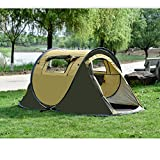 Ezyoutdoor Camping Tent Canvas Tent 2 Seconds Pop Up Easy-to-carry Tent 2 Person Play Tent for Hiking BBQ