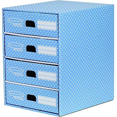 Bankers-Box-Style-Series-Schubladenturm-aus-100-recyceltem-Karton-blauwei