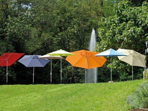 Sonnenschirm Alu 250×250 Gestell silber Bezug anthrazit LSF 50+ günstig bestellen