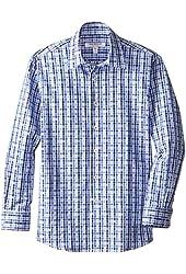 Isaac Mizrahi Big Boys' Boy's Two-Tone Checker Shirt