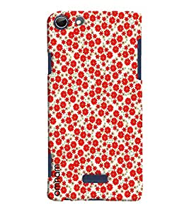 Omnam Red Roses Pattern Printed Designer Back Cover Case For Micromax Selfie 3