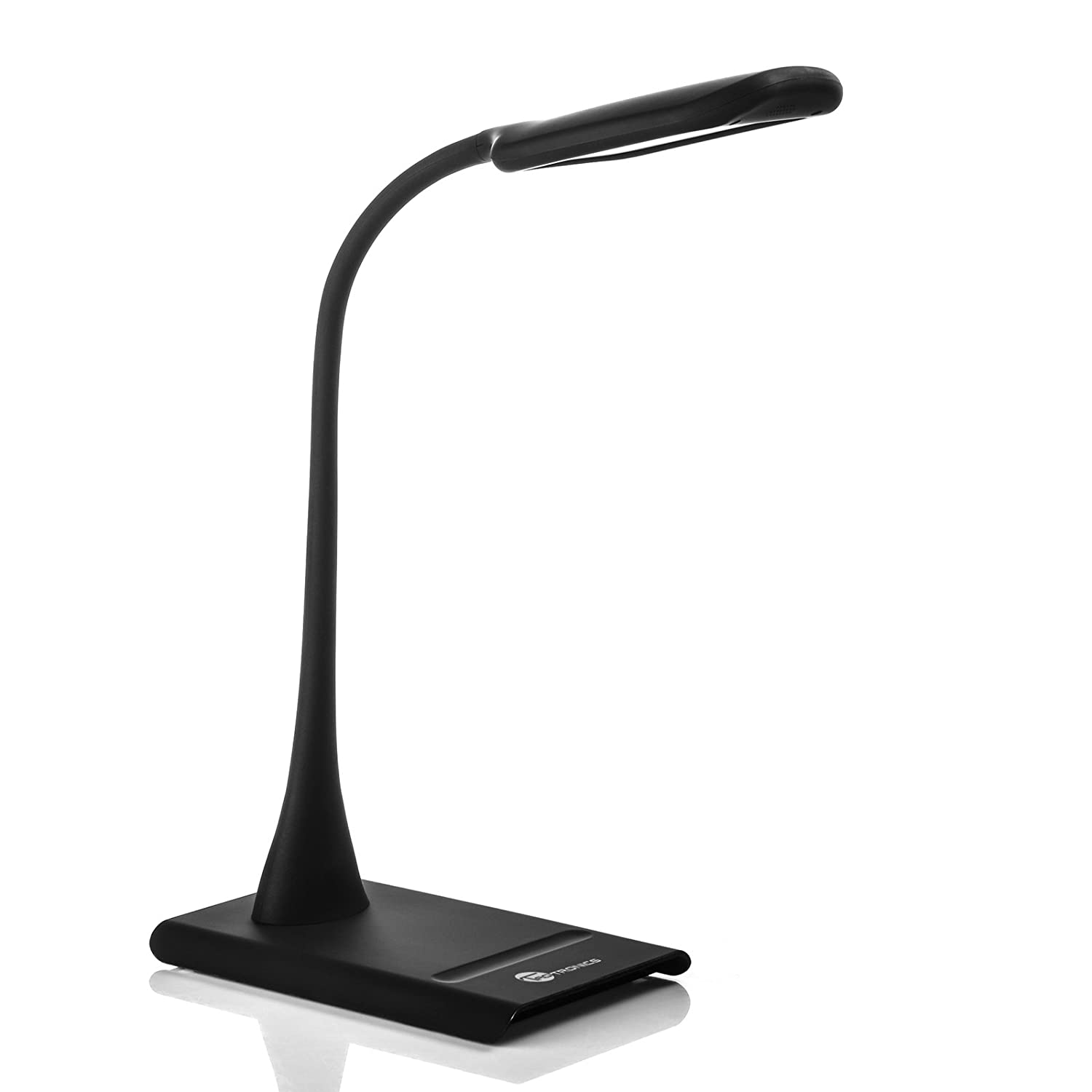 dimmable eye care led desk lamp with 9w flexible neck 7 level dimmer. Black Bedroom Furniture Sets. Home Design Ideas