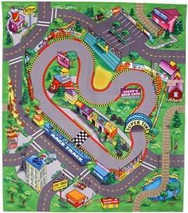 Dickie Spielzeug Playmat World 203315318 Tapis De Jeu 80x70 Cm Le Circuit De Course