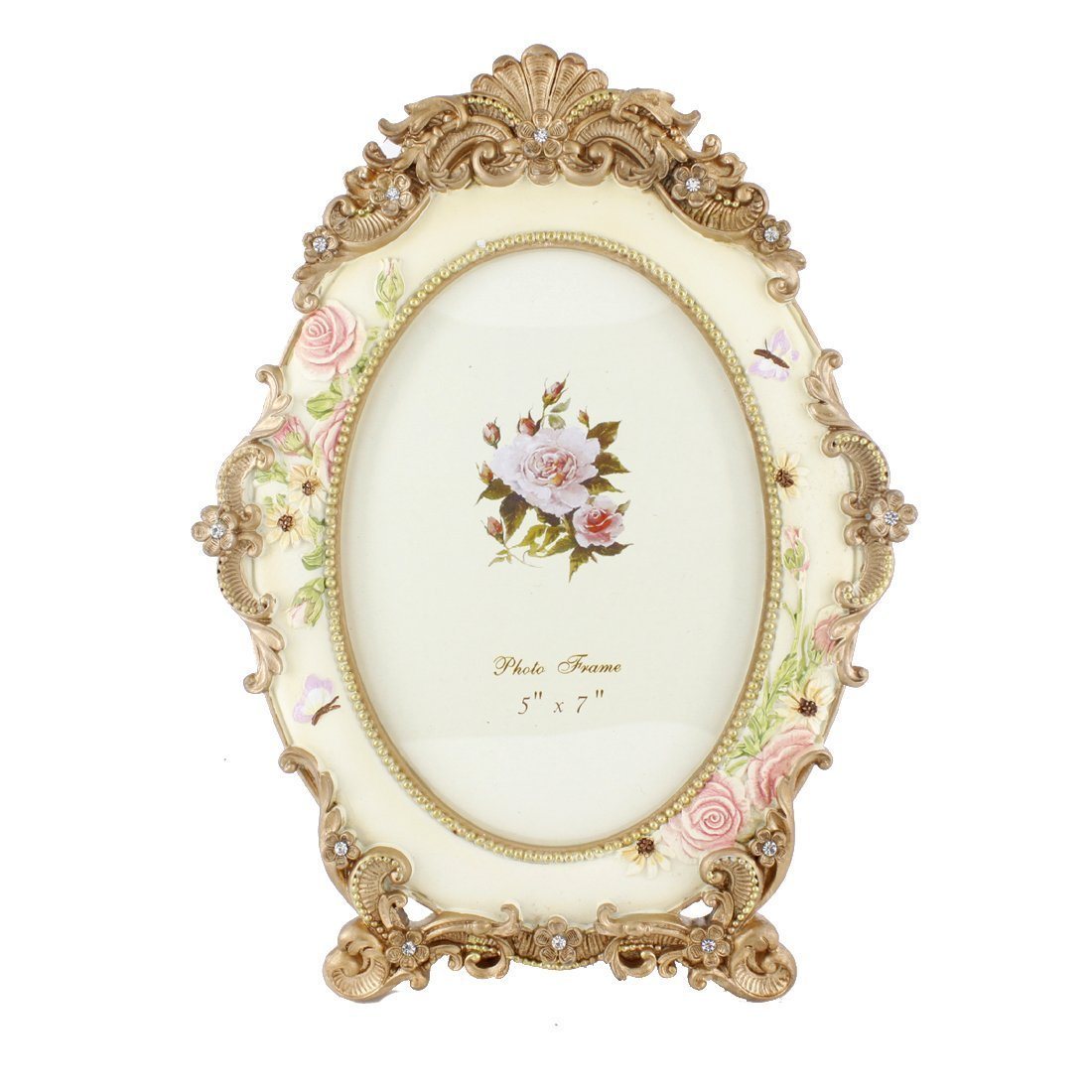 5 by 7 inches oval white crystal victorian flower family picture 5 by 7 inches oval white crystal victorian flower family picture frame 5 x 7 inch jeuxipadfo Image collections