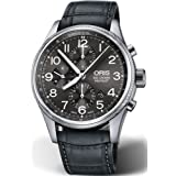 Oris Big Crown ProPilot Chronograph Mens Stainless Steel 44mm Grey Face Oris Watch - Grey Leather Band Swiss Automatic Watch 01 774 7699 4063-07 5 22 06FC