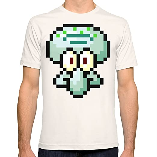 Society6 Men's Squidward T-Shirt Medium Natural