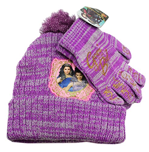 buy popular 0b552 939a1 Disney s Descendants Purple Knit Beanie and Gloves Set