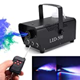 elegantstunning Fog Machines Lights LED Air Column Wireless Remote Control Portable Stage Smoke Machine with Multi Colour for Holidays, Parties, Weddings,110-230V