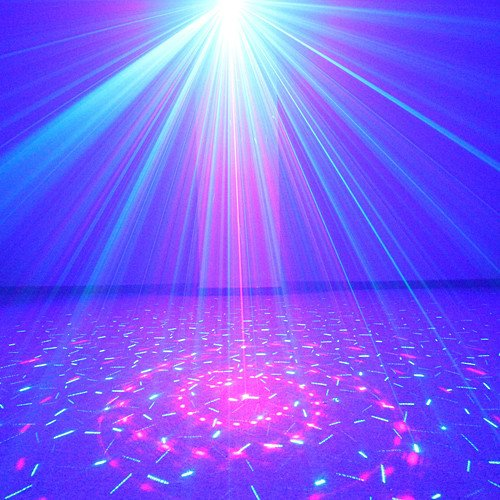 Us-Vision 3 Lens 24 Patterns Club Bar Rg Laser Blue Led Stage Lighting Dj Home Party 300Mw Show Professional Projector Light Disco