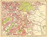 LONDON SE: Deptford Blackheath Greenwich Kidbrooke Brockley New Cross, 1925 map