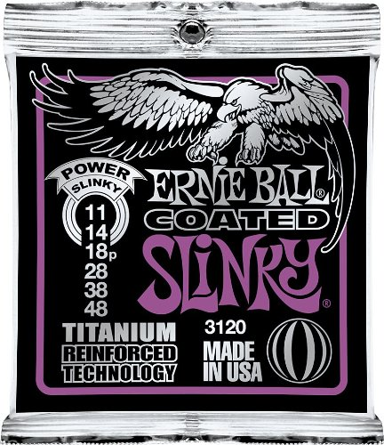 Ernie Ball 3120 Coated Titanium Power Slinky