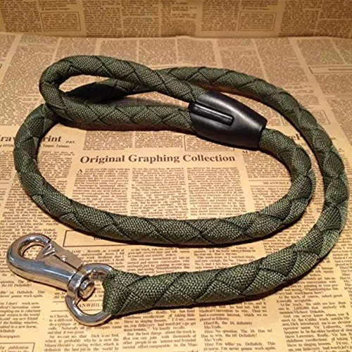 buy Pit bull bulldog dedicated Tau hook Leash Dog rope Training Supplies equipment pet Tensile strength Leashes ArmyGreen for sale