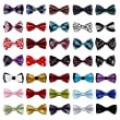 Bundle Monster 5 pc Boys Mixed Pattern Adjustable Elastic Pre-Tied Bow Tie Fashion Accessories - Set 7
